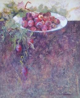 Plato con uvas